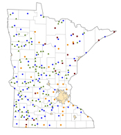 Selected Rural Healthcare Facilities in Minnesota
