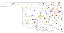 Oklahoma Rural Healthcare Facilities map