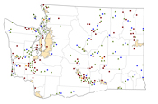Washington Rural Healthcare Facilities map