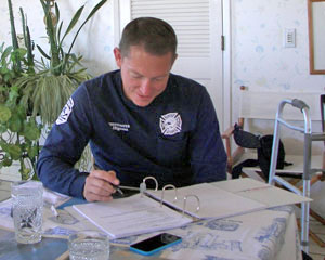 CHIPP paramedic completing paperwork