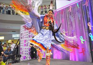 Native American dancer performing