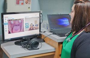Rural Health Clinic provider providing telehealth care
