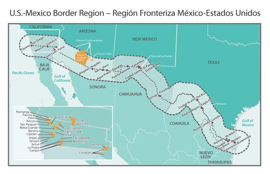 Map Of Texas Mexico Border Towns.Rural Border Health Introduction Rural Health Information Hub