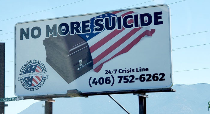 No More Suicide Billboard - Together with Veterans