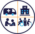 Healthcare surge readiness icon