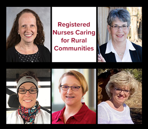 Photo of five rural nurses featured in the Rural Monitor