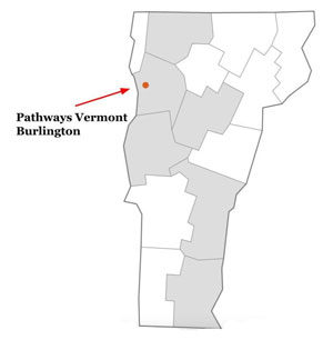 Pathways Vermont Housing First county service area