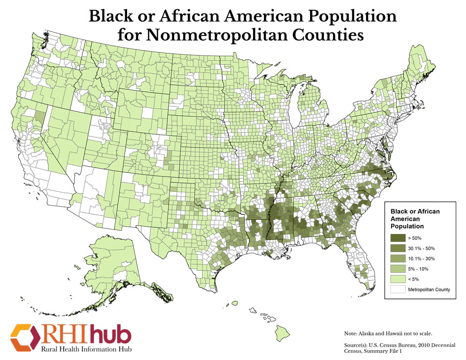 RHIhub Maps on Rural Demographics on