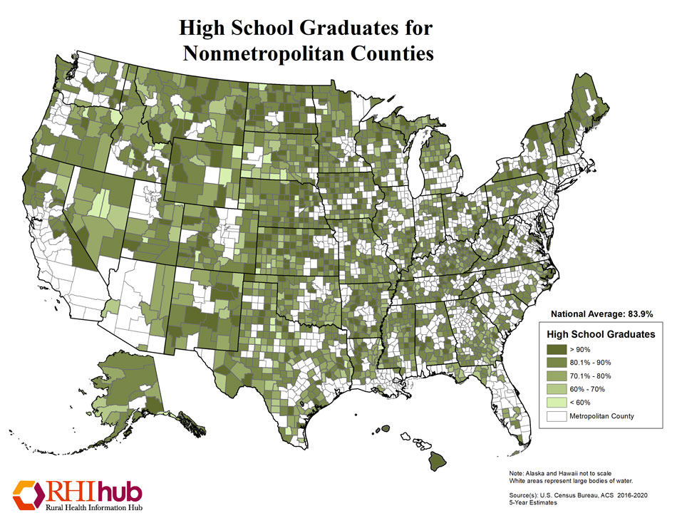 RHIhub Maps on Rural Demographics
