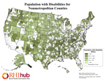 Population with Disabilities for Nonmetropolitan Counties