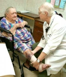 Sister Anne Brooks, D.O., named 2012 Outstanding Physician of the Year by the American Osteopathic Foundation, cares for the poor at the Tutwiler Clinic in Mississippi.