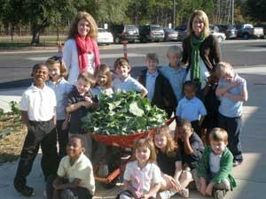 Children in a South Carolina school garden.