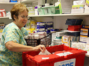 Dispensary of Hope prescription drugs bin