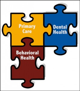 Primary care, dental health, behavioral health puzzle pieces
