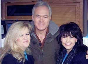 Teresa Gardner and Paula Hill Meade with CBS reporter Scott Pelley