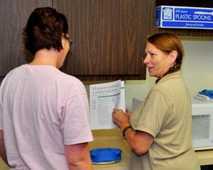 Community health worker Karen Nutter