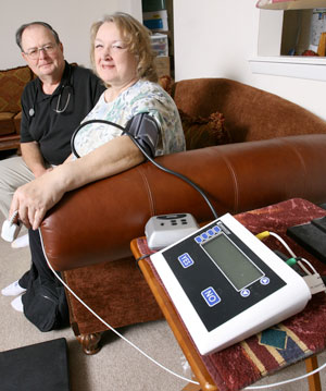 VNA telehealth blood pressure monitoring
