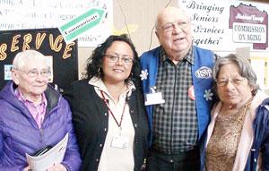 RSVP volunteer coordinator and volunteers