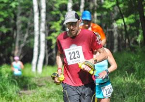 Robert T. Trachtenberg participating in a long-distance running race