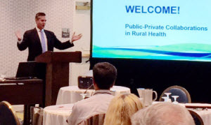 Alan Morgan at the 2015 Public-Private Collaborations in Rural Health meeting