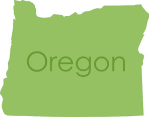 map outline of the state of Oregon