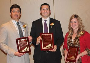 Innovators of the Year Award winners Craig Hitchens, Luke McDaniel, and Lauren Carroll