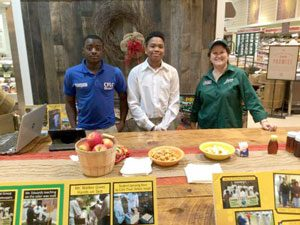 Students selling produce