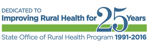 State Office of Rural Health 25 Years graphic
