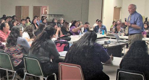 Dr. Rick Champany training Navajo CHWs