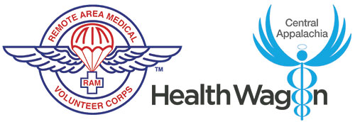 logos for Remote Area Medical and the Health Wagon