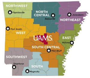 University of Arkansas School for Medical Sciences Regional Centers