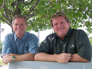 Jeff Elhart (left) and his brother, Wayne.