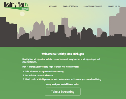 Healthy Men Michigan website