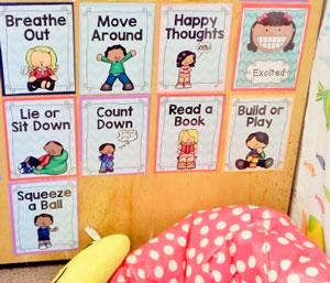 "Buncombe County classroom ""Calm Spot"""
