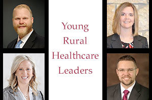 photo of young rural healthcare leaders Adam Willman, Melissa Kelly, Stephanie Orr, and Benjamin Anderson