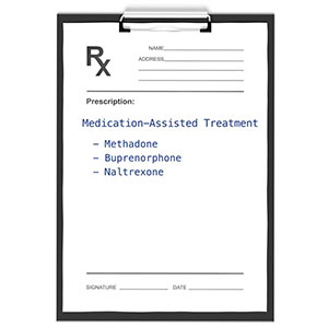 prescription pad listing MAT-related medications