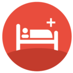 icon showing patient in hospital bed