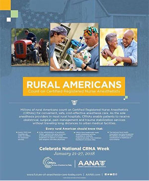 graphic highlighting how rural people rely on nurse anesthetists