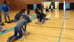 Heart-healthy training at Riverside Jr/Sr High School