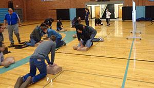 Heart-healthy training at Riverside Jr/Sr High School