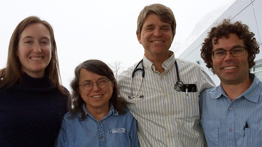 Dr. John Cullen (second from right) poses with the other family physicians, Providence Valdez Medical Center