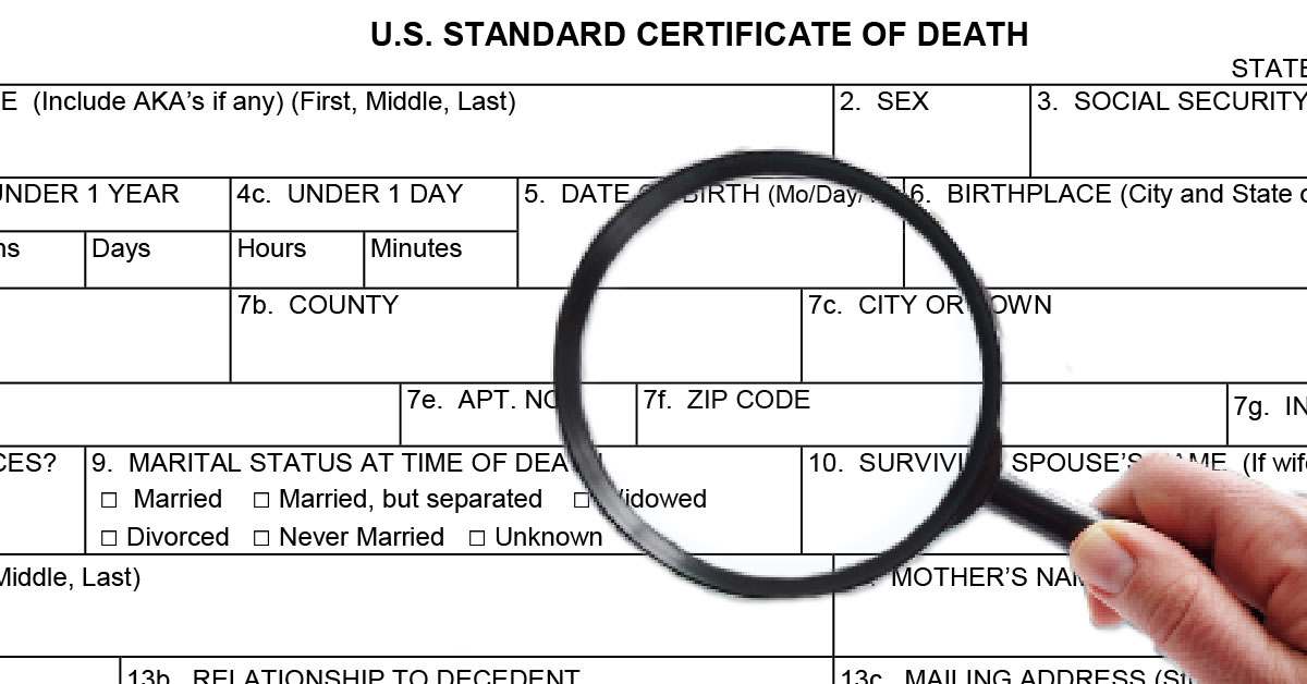 The Death Certificate A Document To Be Honored And Accurate The