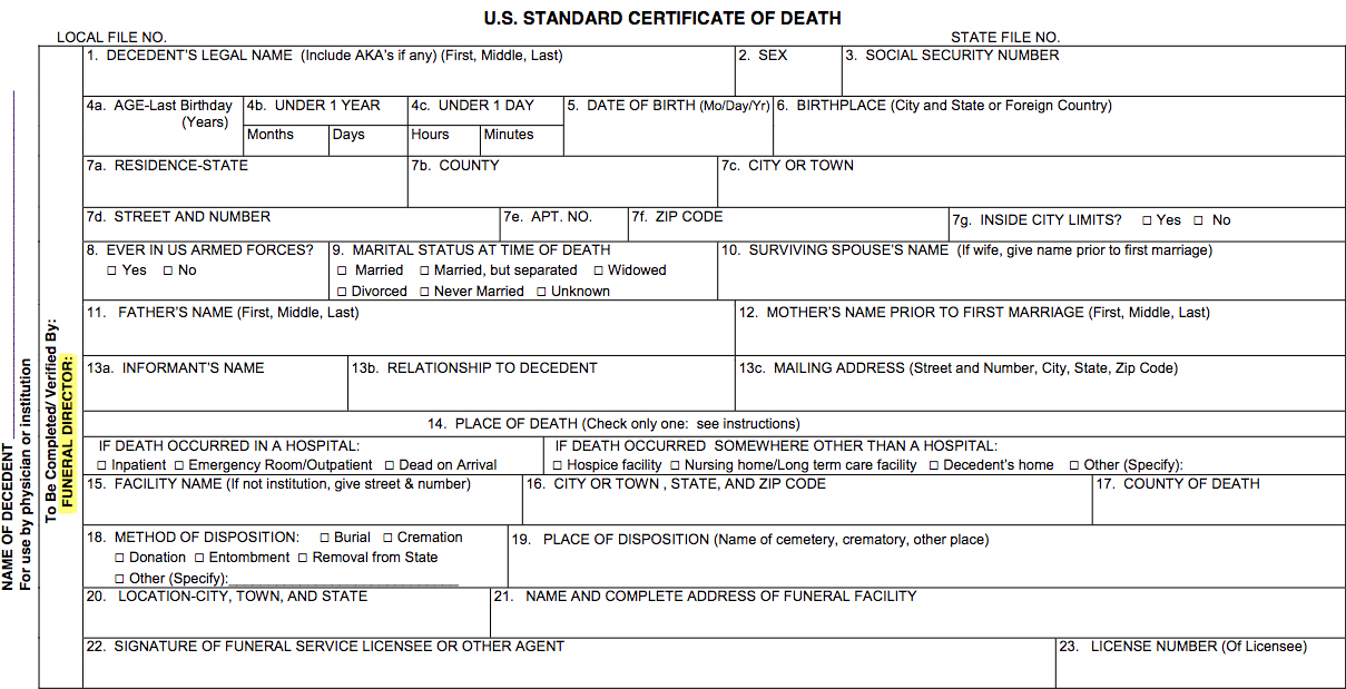 death certificates: a closer look at detail - the rural monitor