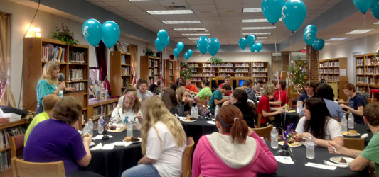 Kentucky students attend a party to celebrate completing the HPV vaccination series