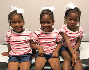 Children pose for photos at Leslie Brasher's Pelican Pediatrics. Everyone pictured is fully vaccinated.