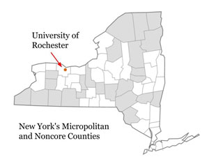 New York's micropolitan and noncore counties