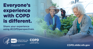 Graphic noting that everyone's COPD experience is different.