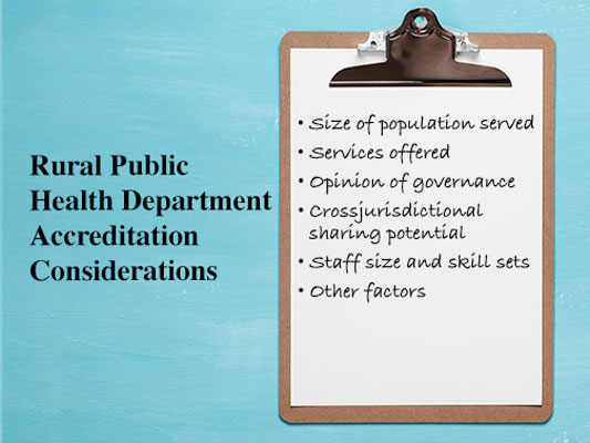 public health department accreditaiton considerations
