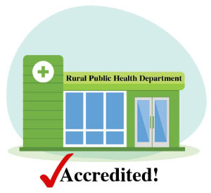 graphic of a rural public health department