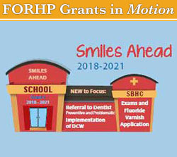 graphic of the Smiles Ahead program activities